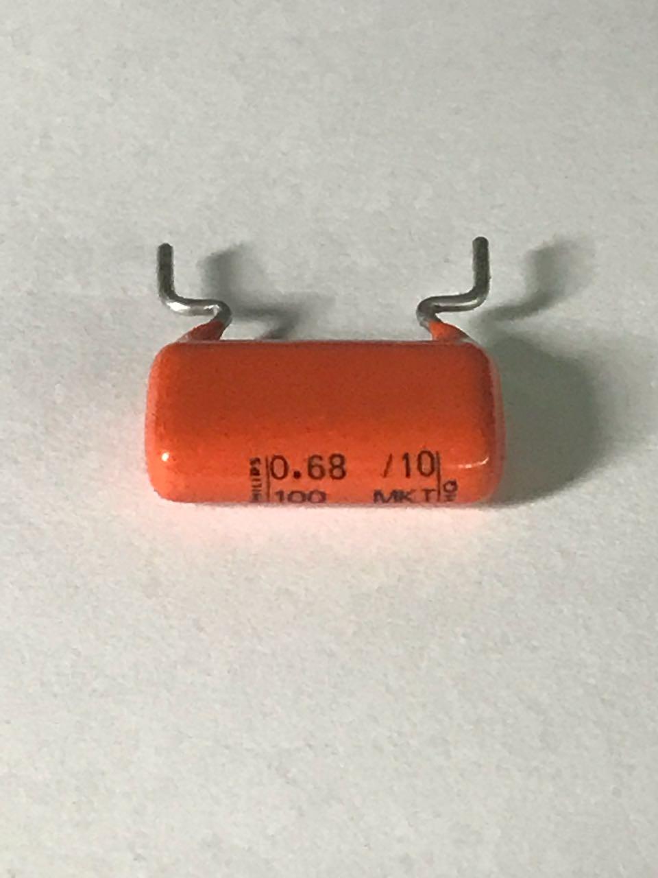 680nf, condensador d110 2x Philips 0,68µf 100v 0.68//10//100 mkt 344 h0