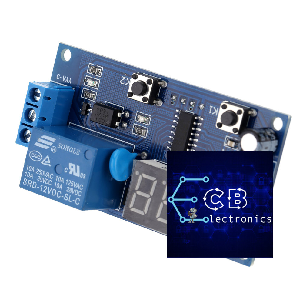 Yya 3 Cbelectronics Digital Timer Relay Switch 12v Dc Display Trigger Cycle Time Delay Module Board With High Quality