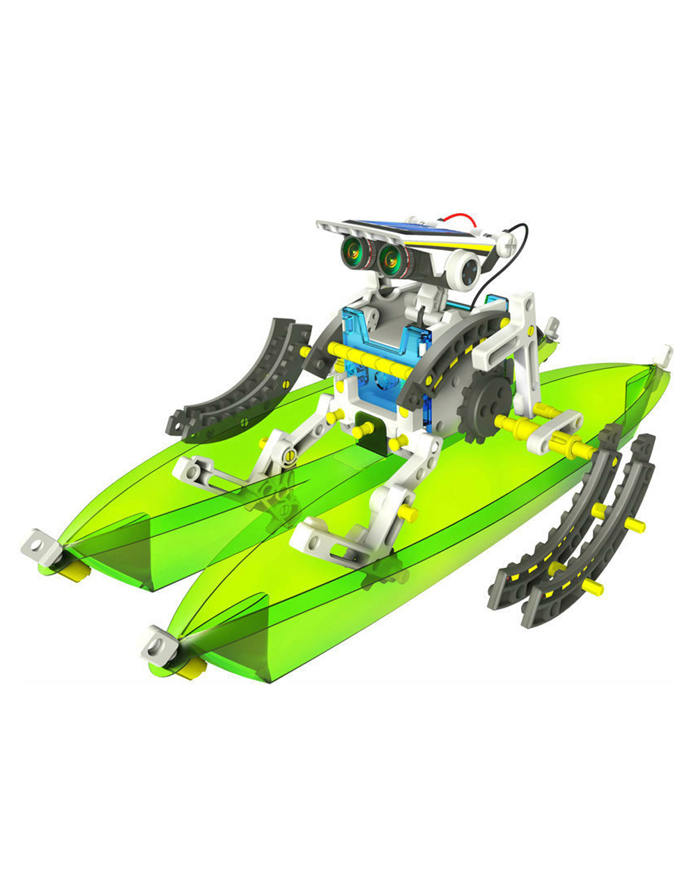 14 in 1 Rechargeable Solar Powered Robot Kit Educational ...